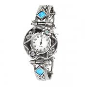 Серебряные часы Yaffo с опалом синтетическим