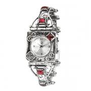 Серебряные часы Yaffo с гранатом