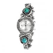 Серебряные часы Yaffo с бирюзой