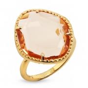 Серебряное кольцо Sandara c обсидианом и позолотой