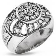 Серебряное кольцо Yaffo с фианитами