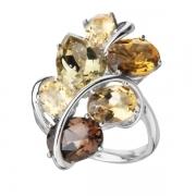 Серебряное кольцо Sandara с кварцем и цитрином