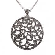Серебряное колье с марказитами