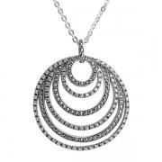 Серебряное колье с марказитами и фианитами