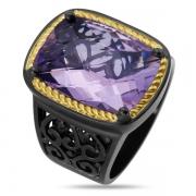 Серебряное кольцо ALEXANDRE VASSILIEV с аметистом и позолотой