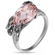 Серебряное кольцо с марказитами Swarowski и фианитами