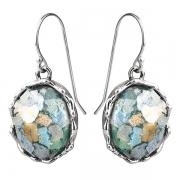 Серебряные серьги Yaffo с романским стеклом