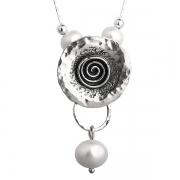 Серебряное колье Yaffo с жемчугом