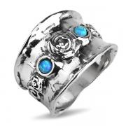 Серебряное кольцо Yaffo с синтетическим опалом