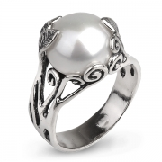 Серебряное кольцо Yaffo с жемчугом