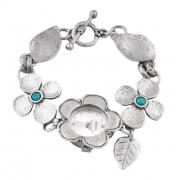 Серебряные часы Shablool с бирюзой
