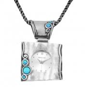 Серебряные часы Yaffo с иск. опалом