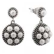 Серебряные серьги De Luna с жемчугом