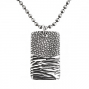Мужской серебряный кулон