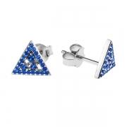 Серебряные серьги Sandara Ice с синими фианитами