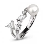 Серебряное кольцо De Luna с жемчугом